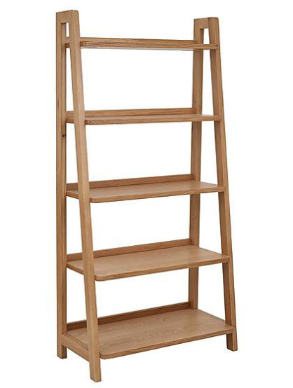 SAVE 50% on this Jasper Oak Freestanding Ladder Bookcase!