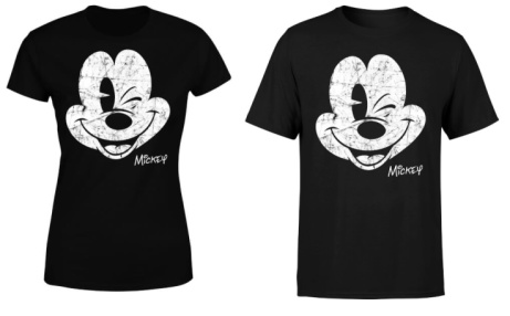 SAVE 40% OFF Disney Mickey Mouse Worn Face T-Shirt + FREE Delivery!