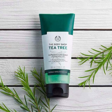 View our range of revitalizing Face Scrubs - Including Tea Tree Squeaky-Clean Scrub £7.50!