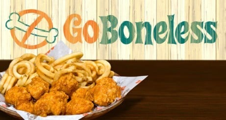 Go Boneless with our NEW Boneless Wings!