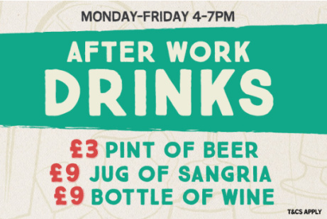 After Work Drinks from ONLY £3! Why Not?