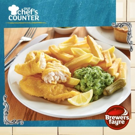It's Chip Shop Night, at your local Brewers Fayre - ONLY £7.99!