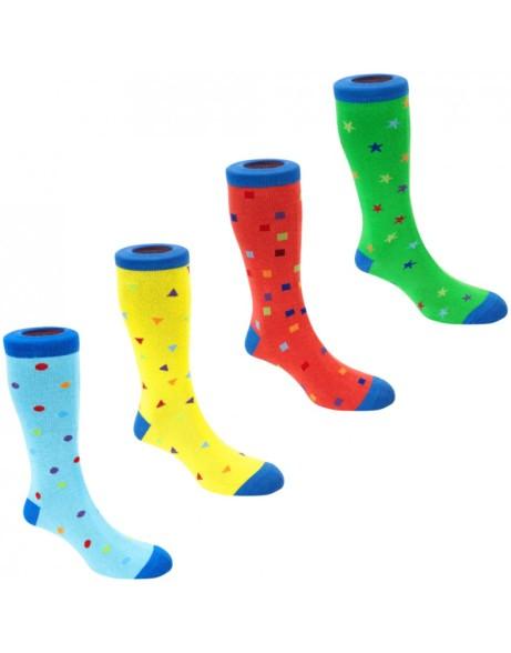 4 Pairs Mens Novelty Socks - SAVE 65%!