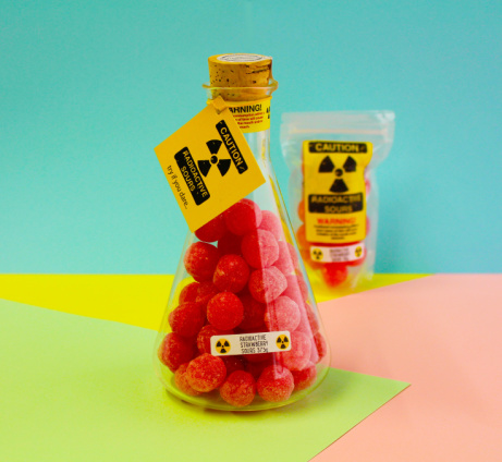 Try our Radioactive Sours - Radioactive Strawberry Sours Flask £11.95