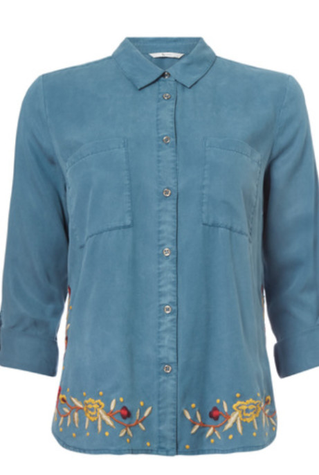 Save £10 on this Teal Embroidered Tencel Shirt