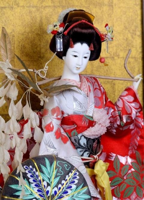 Japanese Geisha in Glass Case - £250.00!