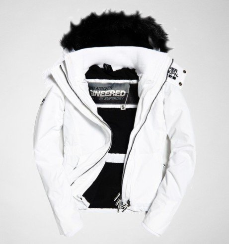 Superdry Hood Fur Sherpa Wind Attacker Jacket - Now with £30 OFF and FREE Delivery