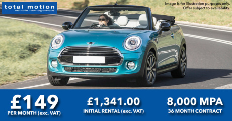 Go Topless This Summer - Mini Convertible Leasing Offer | £149 + VAT P/M!