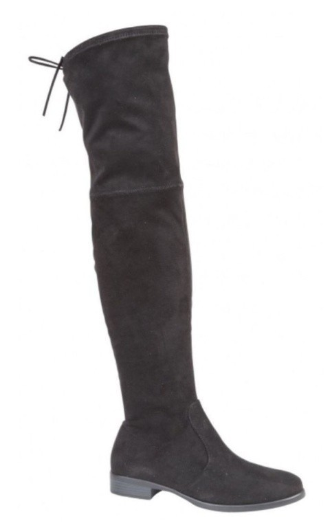 Black over knee flat boots!