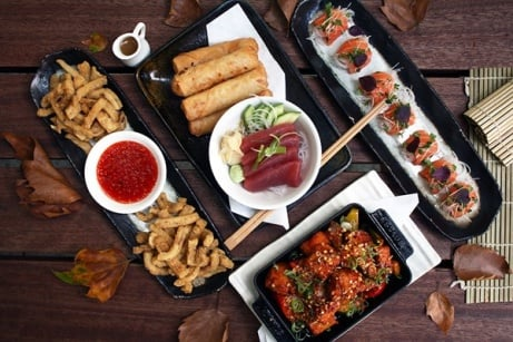 SAVE 44% on this 8 Dish Sharing Menu with a Glass of Bubbly for 2 at Inamo - London!