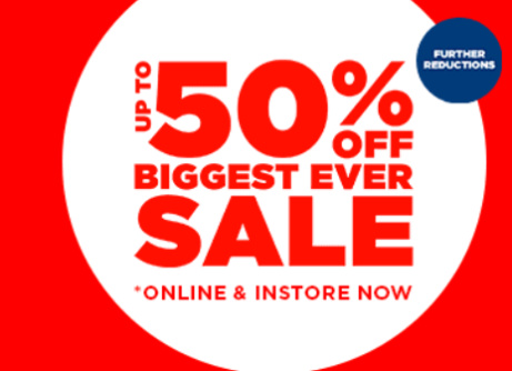 SAVE up to 50% in our BIGGEST EVER SALE!