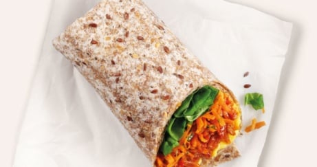 Try our NEW Pulled BBQ jackfruit Wrap (v) £5.25!
