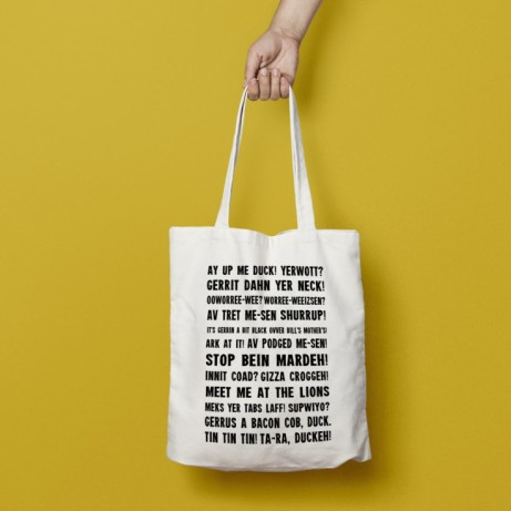 Gifts Under £10 - Nottingham Phrases Tote bags £6.00!