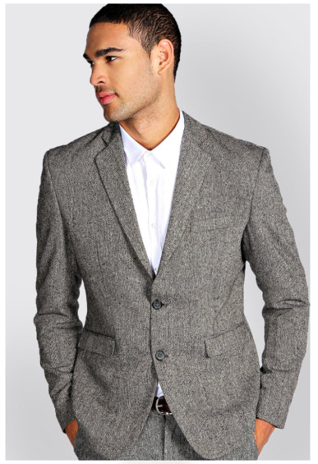 SALE Up to 70% OFF - Slim Fit Tweed Blazer