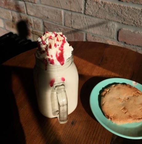 Our Raspberry Cheesecake Milkshakes!