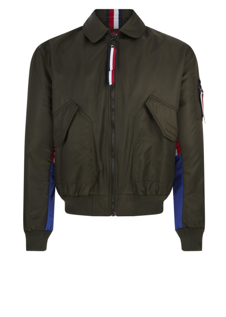 SAVE 70% OFF Hilfiger Edition Nylon Flight Jacket in Khaki!