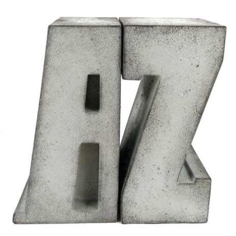 AZ Concrete Effect Bookends - NOW 1/2 PRICE!
