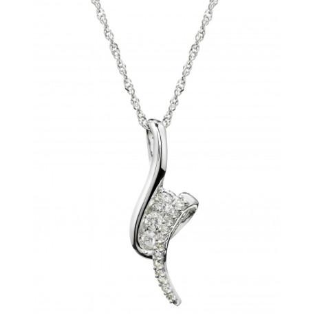 Save £150 on this 9ct white gold 0.20 carat diamond pendant
