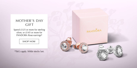 Spend £125 online and get FREE Sterling Silver Earrings Mothers day Gift!