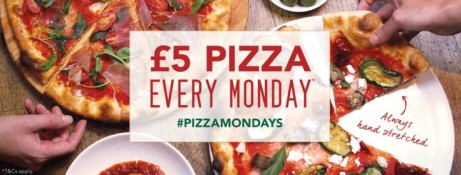£5 PIZZA MONDAYS - ANY PIZZA FOR £5!