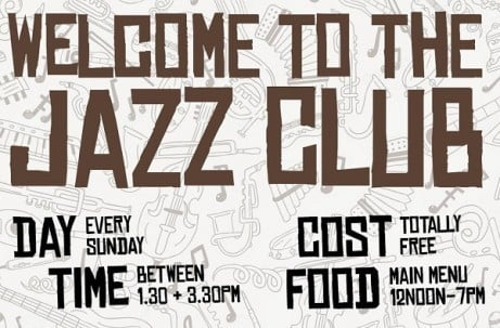 Welcome to Jazz Club... Nice - Every Sunday, Completely Free!