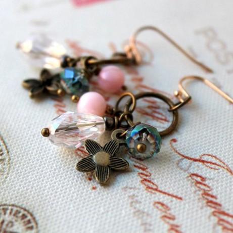 Crystal Dangle Earrings: £10.00