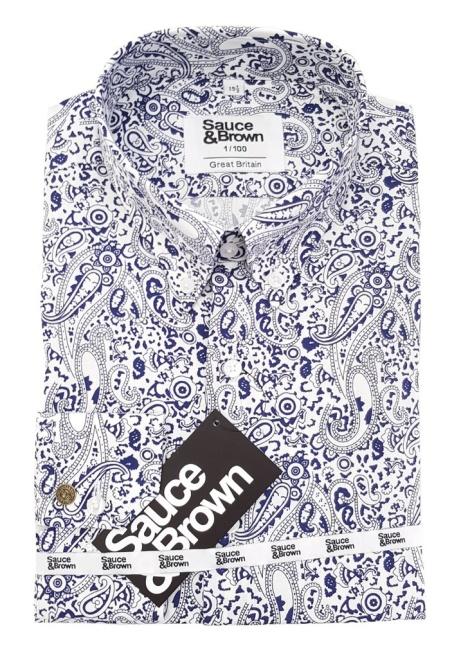 We only make 100 in each design: Pretty Navy shirt - £70.00!
