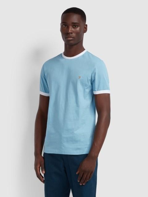 NEW IN - Groves Slim Fit Ringer T-Shirt In Moonstone Regular: £30.00