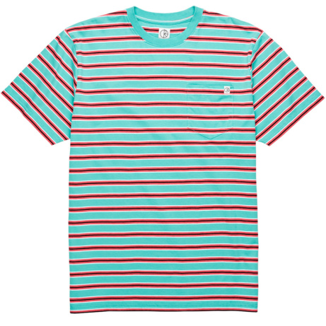 Polar Striped Pocket Tee Coral-Red: £45.00!