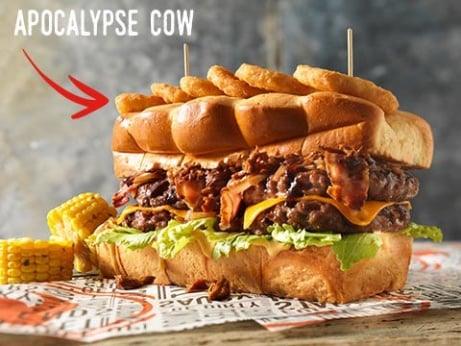 Can you take on the Apocalypse Cow Burger? - ONLY £9.99!