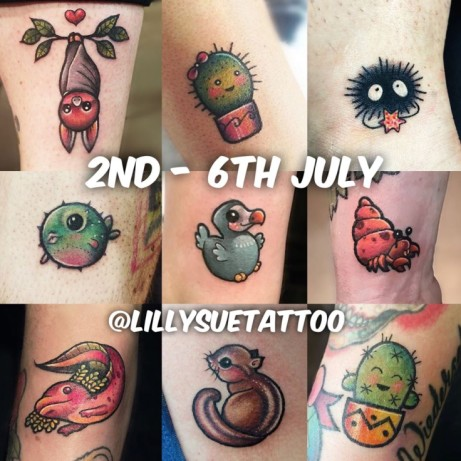 Look at these incredible tattoos done by our upcoming guest artist Lilly Sue tattoo!