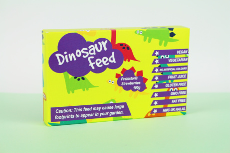 A quirky little box packed with lots of tasty treats: Dinosaur Feed £2.50!
