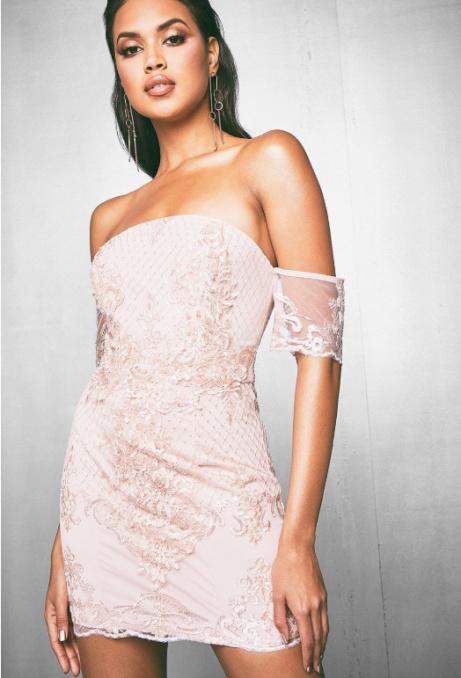 SAVE £25 on this Premium Lauren Corded Sequin Bandeau Dress!