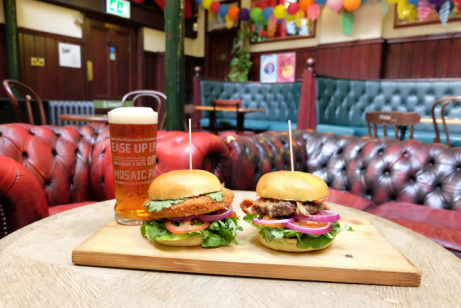 Enjoy one of our Burgers here at the Malt Cross for just £10.00!