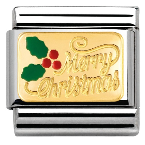 NOMINATION ENAMEL MERRY CHRISTMAS CHARM - £25.00!