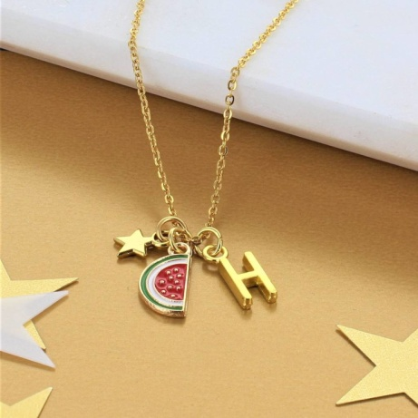Personalised Watermelon Charm Necklace: £14.00!