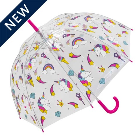 SUSINO CHILDREN'S CLEAR DOME UMBRELLA - UNICORN - £9.95!