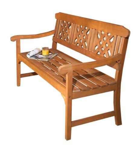 1/2 PRICE - 3-Seater Garden Fence Bench!