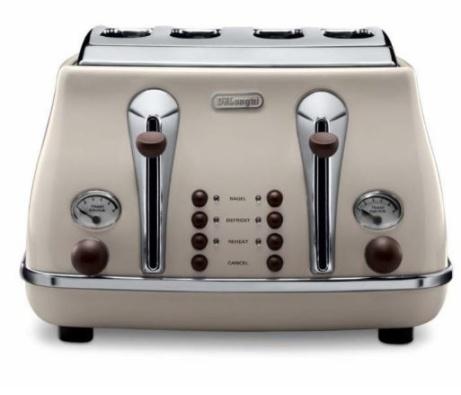 SAVE 42% OFF De'Longhi Icona Vintage 4-Slice Toaster - Cream!