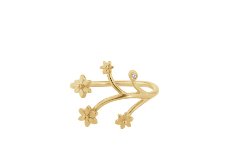 The Flower ring is just £54.00 and comes in silver and gold!