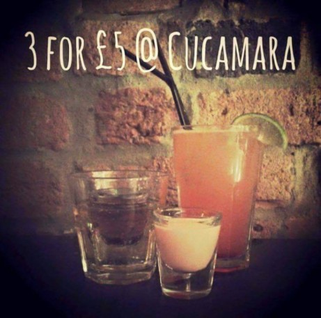 Come and try our famous 3 drinks for £5.00!