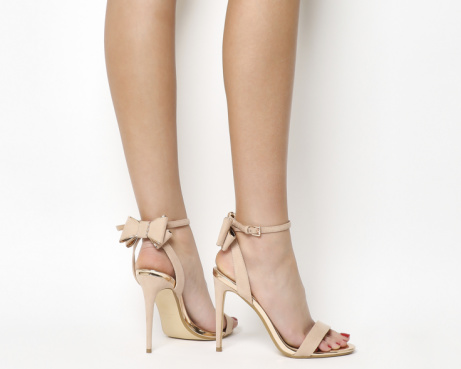 20% OFF - Helena Bow Back Heels Nude Rose Gold!