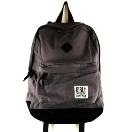 Girl Simple Backpack Grey - £50.00!