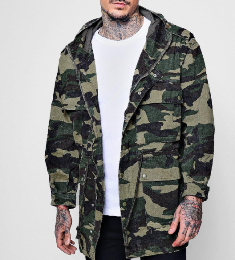 4 Pocket Hooded Camo Field Jacket - LESS THAN 1/2 PRICE!