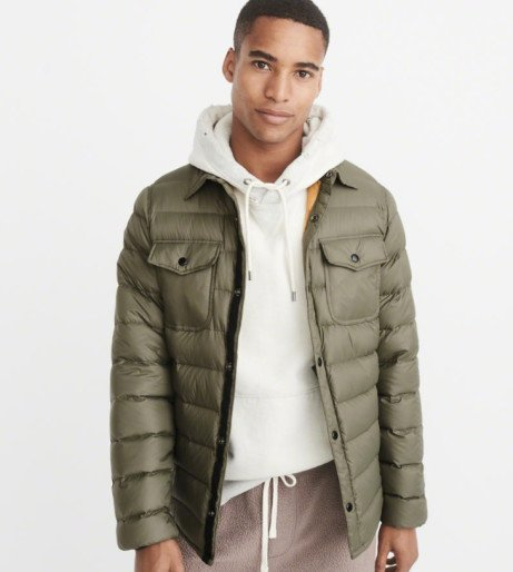 SAVE 60% on this Lightweight Down-Filled Shirt Jacket