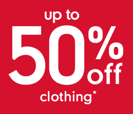 SAVE up to 50% on Clothing at Mothercare!