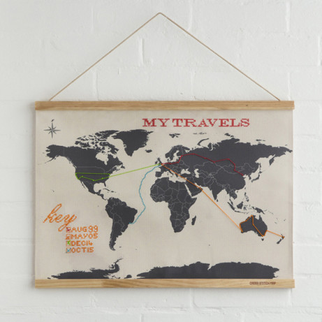 Save £8 on this amazing Cross Stitch Map