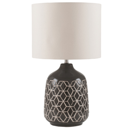 SAVE 35% on this Charcoal Geometric Table Lamp!