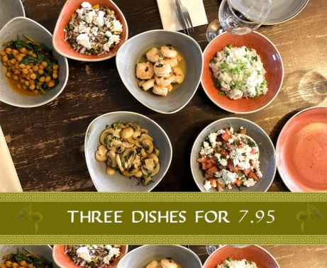 There's no better way to spend your afternoon than with three tasty Yamas dishes all for just £7.95!