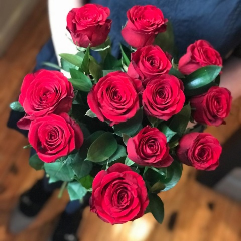 12 Red Roses Fresh Flower Bouquet - was £39.99, now £27.99!